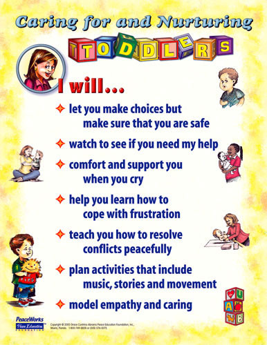 Caring and Nurturing Toddlers Poster