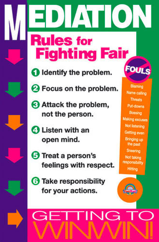 WinWin! Mediation Rules for Fighting Fair Poster