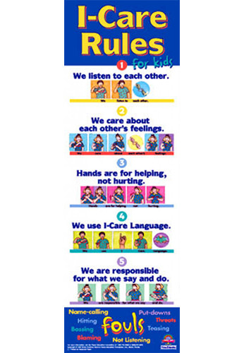I-Care Rules Poster, Grade 3