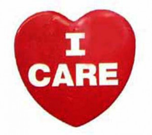 I Care Heart Button