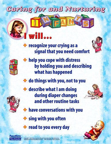 Caring and Nurturing Infants Poster