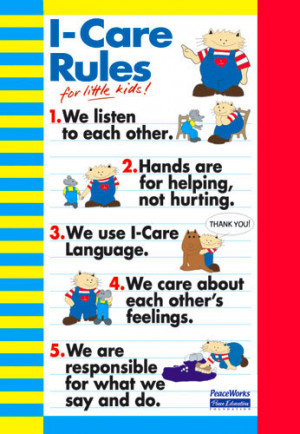 I-Care Rules Poster